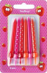 Świeczki urodzinowe, mix wzorów i kolorów, 6,5 cm, 6 szt. uniwersalny