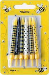 Świeczki urodzinowe, Pszczółka, mix, 6,5 cm, 6 szt. uniwersalny