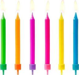 Świeczki urodzinowe, mix kolorów, 6,5 cm, 6 szt. uniwersalny