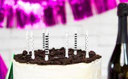 Świeczki urodzinowe,czarno-białe, mix, 6,5 cm, 6 szt. uniwersalny
