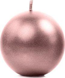 Party Deco Świeca metalizowana Kula, różowe złoto, 8 cm, 6 szt. uniwersalny