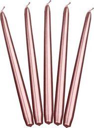 Party Deco Świeca stożkowa metalizowana, różowe złoto, 24 cm, 10 szt. uniwersalny