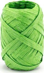 Party Deco Wstążka ozdobna rafia, zielona, 10 m uniwersalny