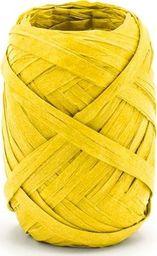 Party Deco Wstążka ozdobna rafia, żółta, 10 m uniwersalny