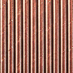 Party Deco Słomki papierowe do picia, różowe złoto, 19,5 cm, 10 szt. uniwersalny