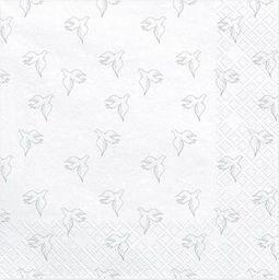 Party Deco Serwetki Komunijne Gołąbek, srebrne, 33x33cm, 20 szt. uniwersalny