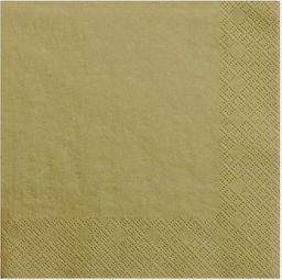 Party Deco Serwetki papierowe, złote, 33x33 cm., 20 szt. uniwersalny