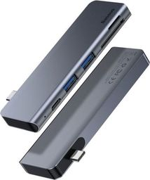 Stacja/replikator Baseus Harmonica 5w1 2xUSB 3.0 USB-C micro SD