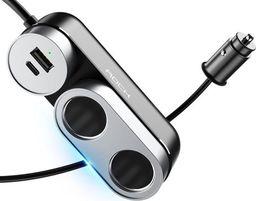 Ładowarka Rock Ładowarka samochodowa Rock Car Cigarette rozdzielacz USB czarna uniwersalny