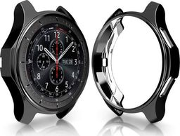 Alogy Etui silikonowe Alogy case do Samsung Gear S3/ Watch 46 mm czarne uniwersalny