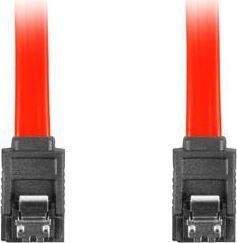 Lanberg CA-SASA-14CC-0070-R (SATA II M - SATA II M; 0,7m; kolor czerwony)