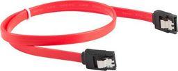 Lanberg CA-SASA-14CC-0100-R (SATA II M - SATA II M; 1m; kolor czerwony)