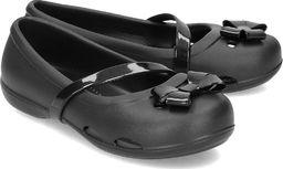 Crocs Crocs Lina Flat - Baleriny Dziecięce - 204028 BLACK 27/28