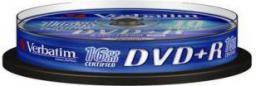 Verbatim DVD+R/10/Cake 4.7GB 16x srebrny 43498