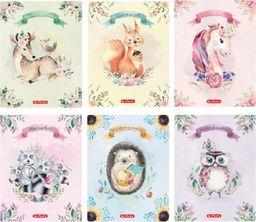 Herlitz Zeszyt A5/16K linia podwójna Fairy animals (10szt) (327411)