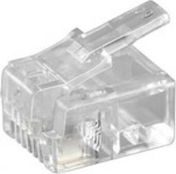 MicroConnect Wtyk modułowy RJ11 6P4C, 10szt (KON501-10R)