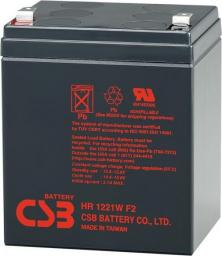 CSB CSB 12V 5,1Ah olověný akumulátor HighRate F2 (HR1221WF2)