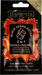 Bielenda Maseczka do twarzy Black Sugar Detox Maska + Peeling 2w1 detoksykująco-oczyszczająca 8g