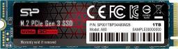 Dysk SSD Silicon Power P34A80 1TB M.2 PCIe Gen3 x4 NVMe (SP001TBP34A80M28)