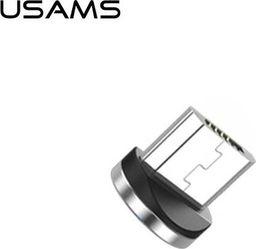 Usams USAMS Adapter magnetyczny microUSB bulk srebrny/silver SJ158USBT (US-SJ158)