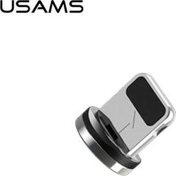 Usams USAMS Adapter magnetyczny lightning bulk srebrny/silver SJ157USBT (US-SJ157)