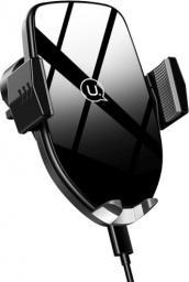 Uchwyt Usams Uchwyt indukcyjny Glass Automatic Wireless Fast charging czarny (US-CD72)