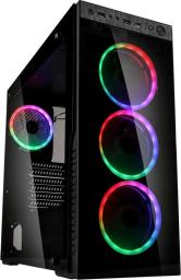 Obudowa Kolink Horizon RGB Midi-Tower, Tempered Glass - schwarz