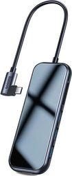 Stacja/replikator Baseus Baseus adapter HUB 7w1 USB-C 3xUSB 3.0 HDMI 4K SD/TF micro SD PD szary uniwersalny