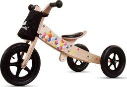 Sun Baby Rowerek biegowy drewniany 2w1 Twist Cubic Black