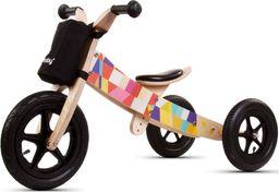 Sun Baby Rowerek biegowy drewniany 2w1 Twist Mosaic Black