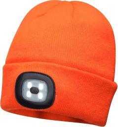 Unimet czapka z lampką led/usb pomarańczowa (BHP B029ORR)