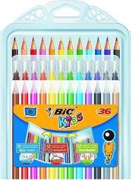 Bic Zetaw koloringowy 3w1 Kredki 36szt BIC