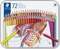 Staedtler Kredki sześciokątne 72 kolory metalowe opakowanie
