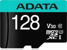 Karta ADATA MicroSDXC Premier Pro 128 GB UHS1 U3 V30 A2 + adapter (AUSDX128GUI3V30SA2-RA1)