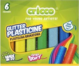 Cricco Plastelina brokatowa 6 kolorów CRICCO
