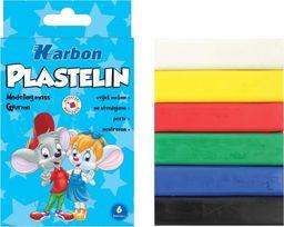 Eurocom Plastelina 6 kolorów Lapicz KARBON