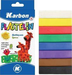 Eurocom Plastelina 8 kolorów KARBON
