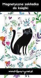 HENRY Zakładka magnetyczna - Kot Czarny