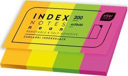 Interdruk Zakładki indeksujące neon 200szt
