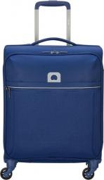 Delsey Mała kabinowa walizka DELSEY Brochant Slim Niebieska uniwersalny