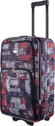 PELLUCCI Mała kabinowa walizka PELLUCCI 773 S - Czarno Szaro Czerwona uniwersalny