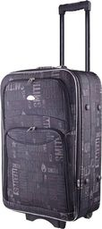 PELLUCCI Mała kabinowa walizka PELLUCCI 773 S - Czarno Szara uniwersalny