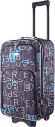 PELLUCCI Mała kabinowa walizka PELLUCCI 773 S - Czarno Szaro Turkusowa uniwersalny
