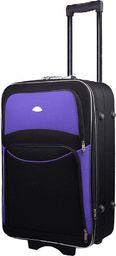 PELLUCCI Mała kabinowa walizka PELLUCCI 773 S - Czarno Fioletowa uniwersalny