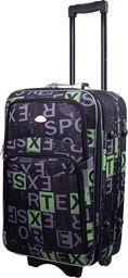 PELLUCCI Mała kabinowa walizka PELLUCCI 773 S - Czarno Zielona uniwersalny