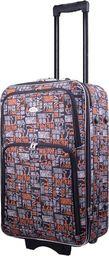 PELLUCCI Mała kabinowa walizka PELLUCCI 773 S - Szaro Pomarańczowa uniwersalny
