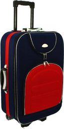 PELLUCCI Mała kabinowa walizka PELLUCCI 801 S - Granatowo Czerwona uniwersalny