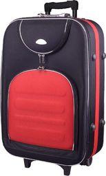 PELLUCCI Mała kabinowa walizka PELLUCCI 801 S - Czarno Czerwona uniwersalny