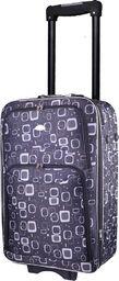 PELLUCCI Mała kabinowa walizka PELLUCCI 773 S Czarno Szara uniwersalny
