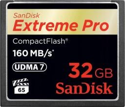 Karta pamięci SanDisk CompactFlash 32GB Extreme Pro 160MB/s SDCFXPS-032G-X46